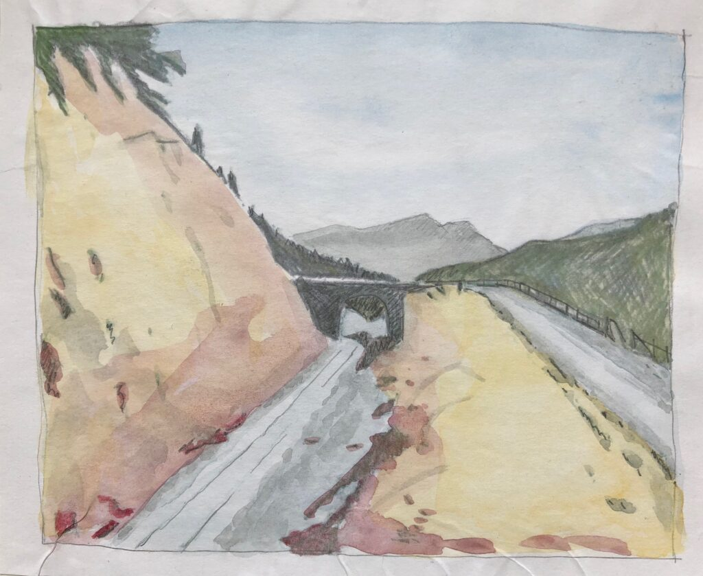 2013 Licht und Schatten, Sommerprojekt, Farbstifte, Bleistift und Aquarell