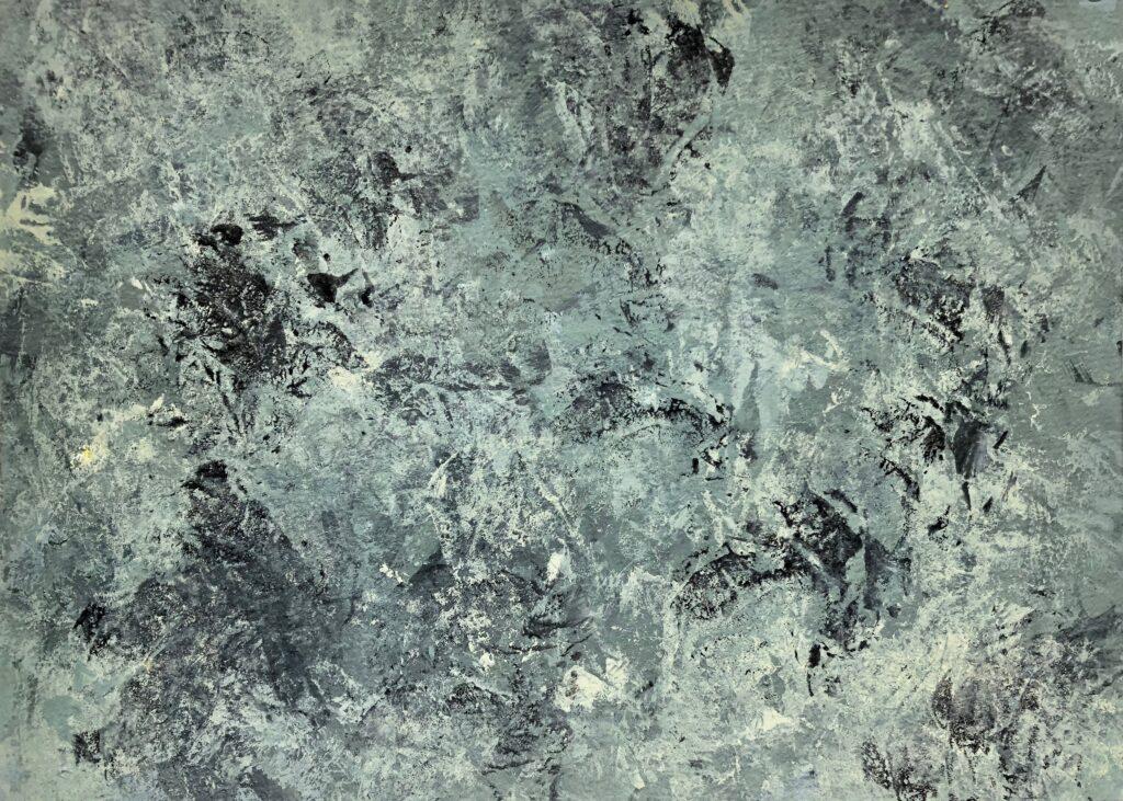 2014 Veränderung, Vergänglichkeit, malerische Auseinandersetzung mit Linoleum