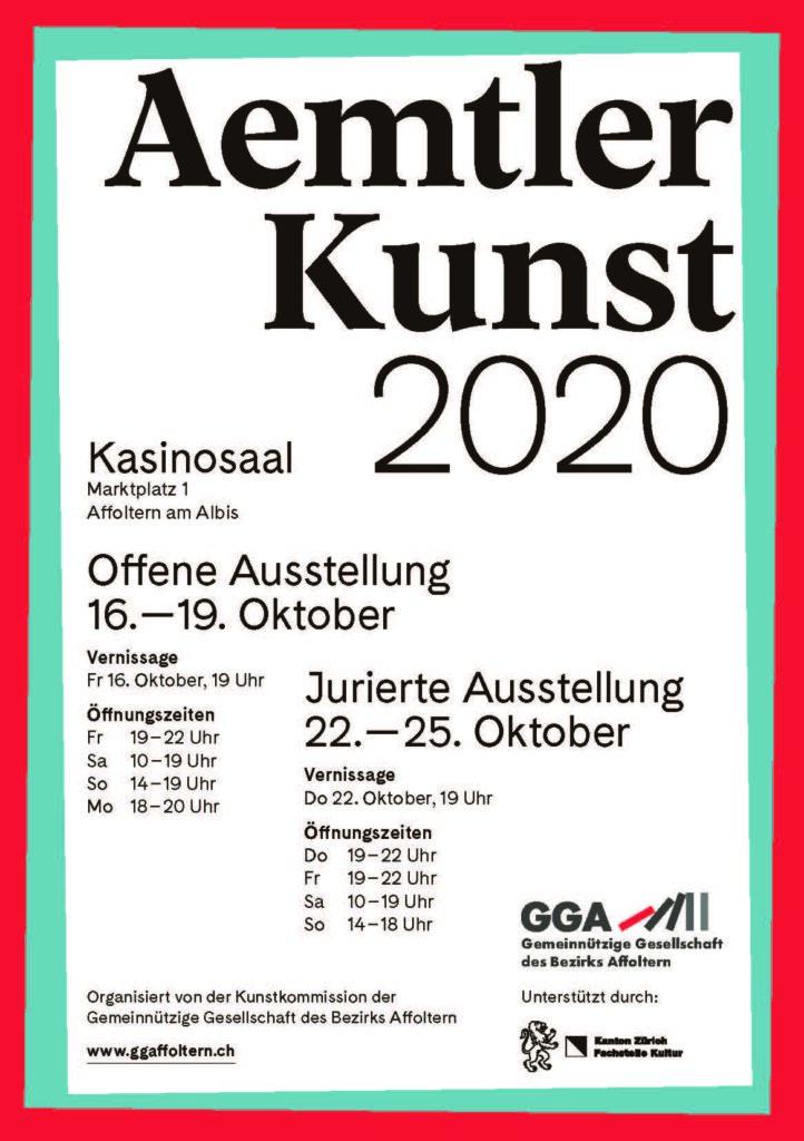 Flyer Aemtler Künstler 2020